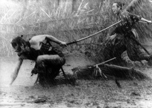 A little rain didn't deter the Seven Samurai....though musket fire was problematic.